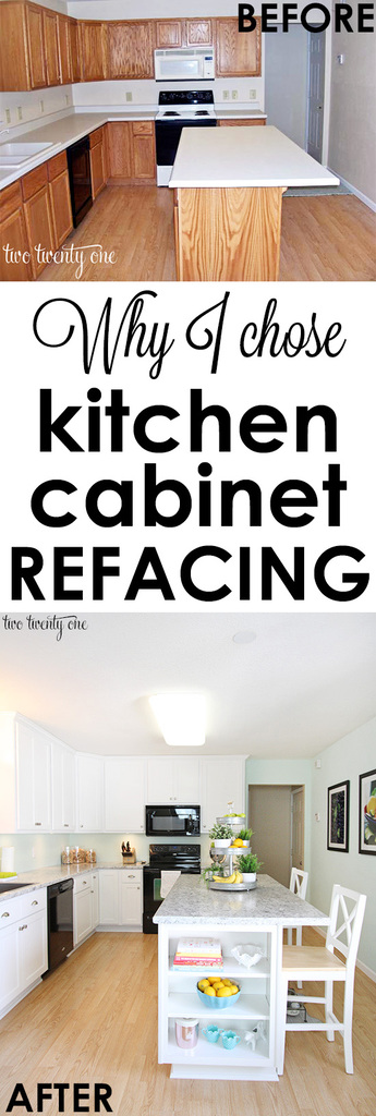 kitchen cabinet reface decore makeover reveal why i chose refacing instead of installing new cabinets