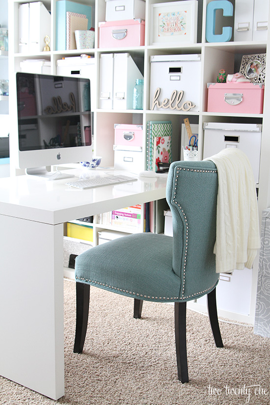 desk chair home office with long seat makeover reveal two twenty one