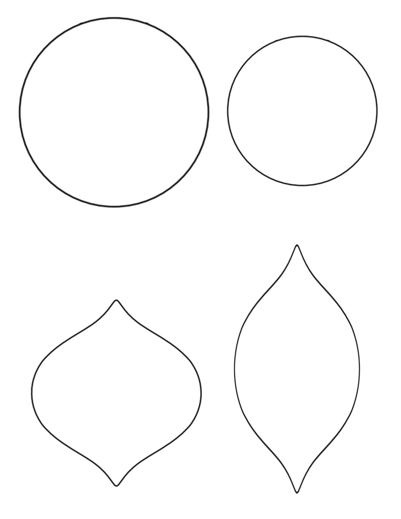 Christmas Tree Ornaments Templates