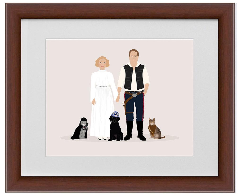custom star wars family portrait
