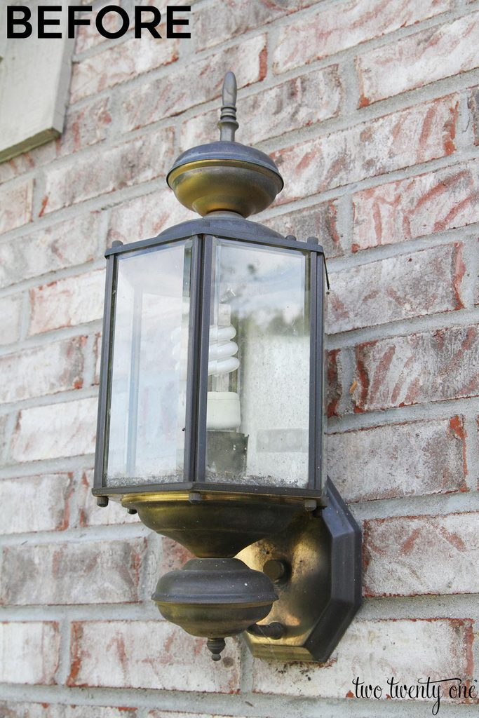 Updated Outdoor Garage Lights
