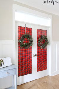 Decorating French Doors for Christmas