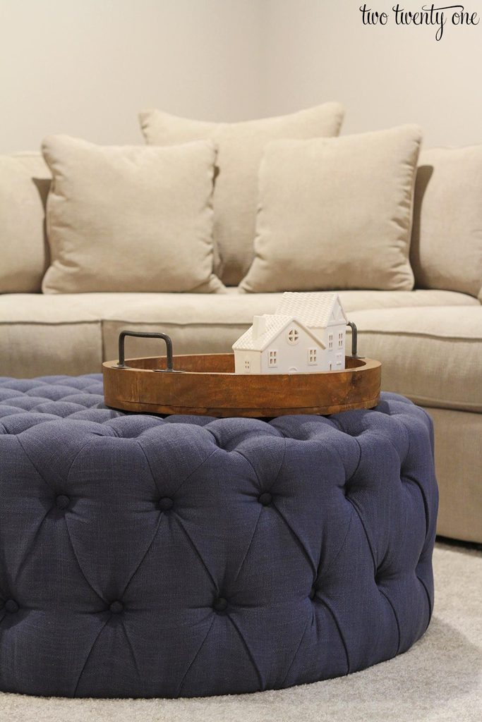 the basement radley sectional ottoman