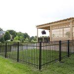 New Backyard Addition Black Aluminum Fence