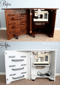 Sewing Cabinet Makeover {Painting Furniture} - Two Twenty One
