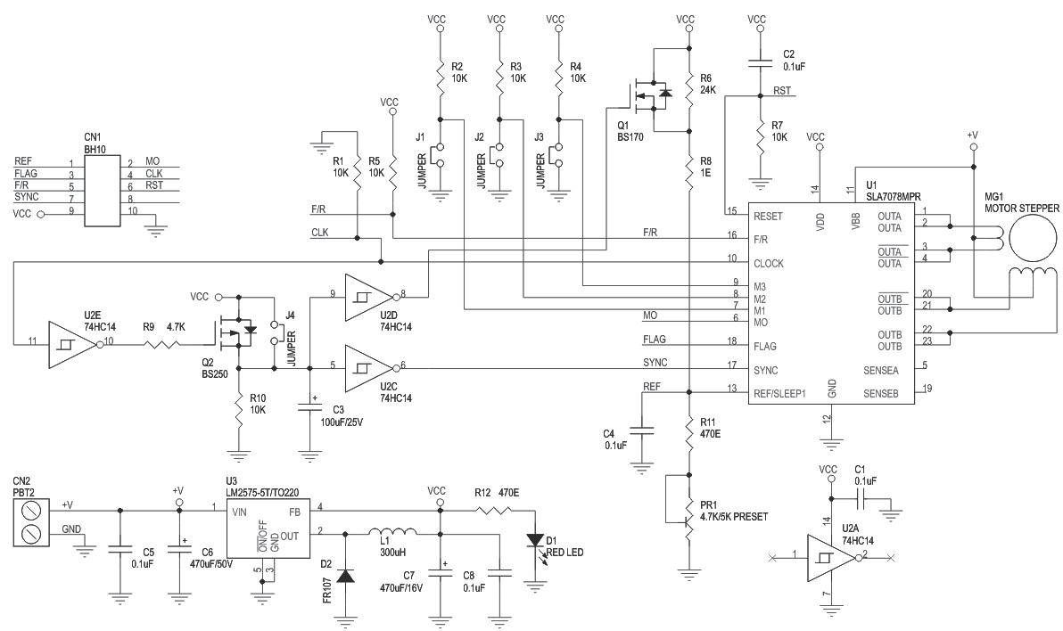 hight resolution of 3a unipolar stepper motor driver with micro stepping and auto half current using sla7078mpr 3