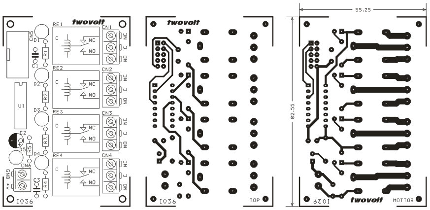 4 Channel Relay Board for Micro-Controller Development