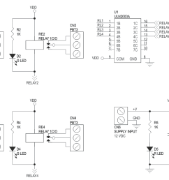 4 channel relay board using uln2003 and box header for micro controller development boards  [ 1415 x 817 Pixel ]