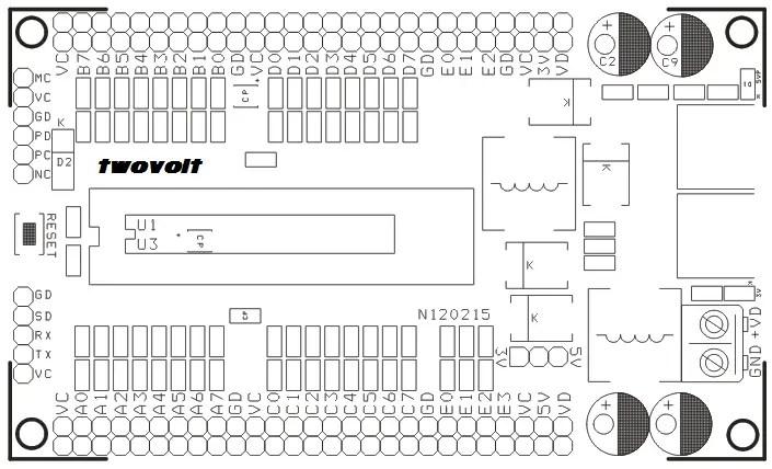 40 & 28 PIN Development Boards on Board 3V3 5V Switching