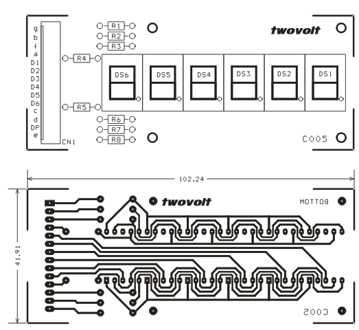 6 DIGIT 7 SEGMENT MULTIPLEX DSIPLAY MODULE SCHEMATIC