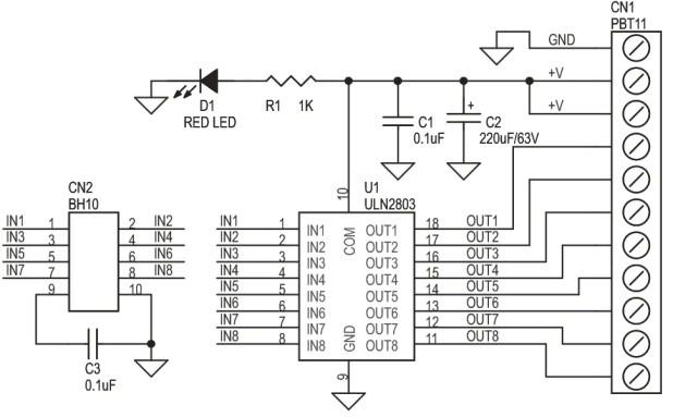 uln2803 motor driver circuit