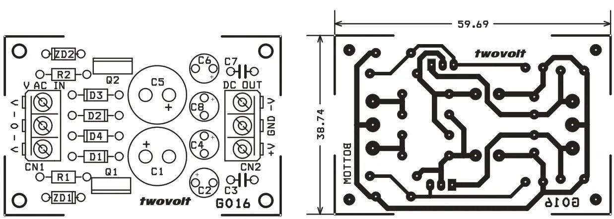 9V Dual Output Zener Diode & Transistor Based Regulated