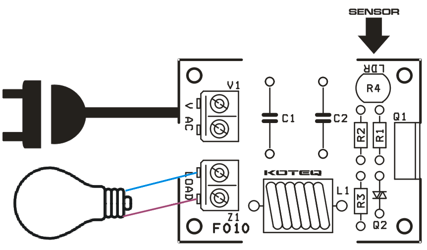 Automatic Street Lamp On/OFF Switch Using Traic and LDR