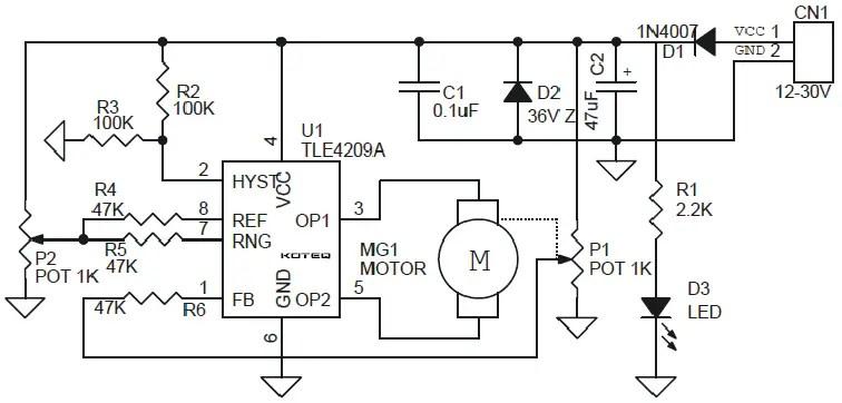 Closed Loop Analog DC Motor Based Servo Motor Using