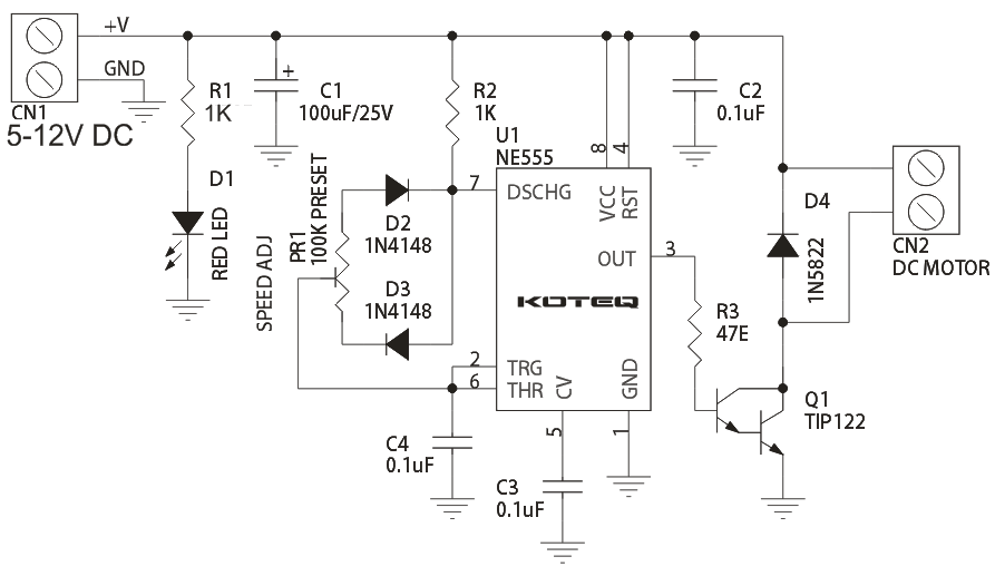 reversible ac motor wiring diagram teaching tree pwm dc speed controller using 555 timer archives - circuit ideas i projects schematics ...