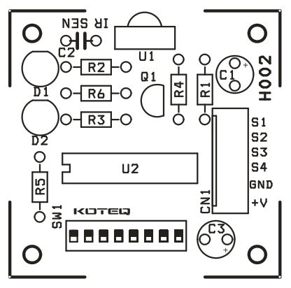 HT12A & HT12D Based 4 Channel IR Remote Controller Circuit
