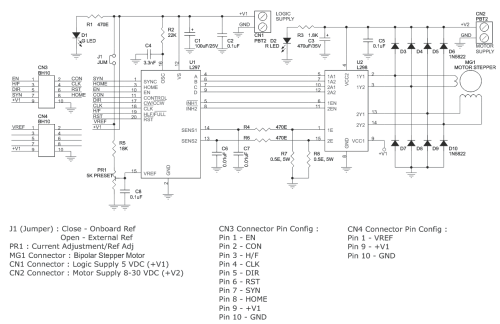 small resolution of l298 l297 based high current bipolar stepper motor driver l298 circuit diagram also with bipolar stepper motor driver circuit