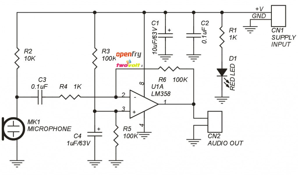 lm358 audio preamp schematic