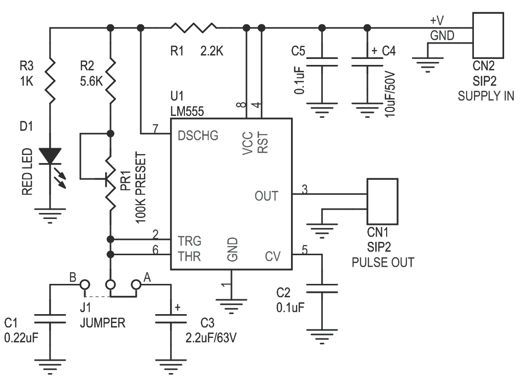 Pulse Generator for Stepper Motor Driver Using 555 IC CMOS