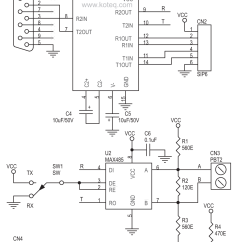 Rs232 To Rs485 Converter Circuit Diagram Isuzu Npr Wiring Board Using Max232 And Max485