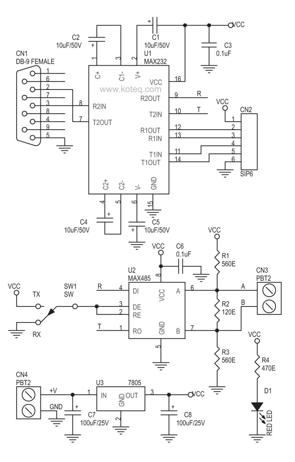 medium resolution of rs232 to rs485 converter board using max232 max485 circuit ideas rs232 to rs485 circuit diagram rs232 to rs485 circuit diagram