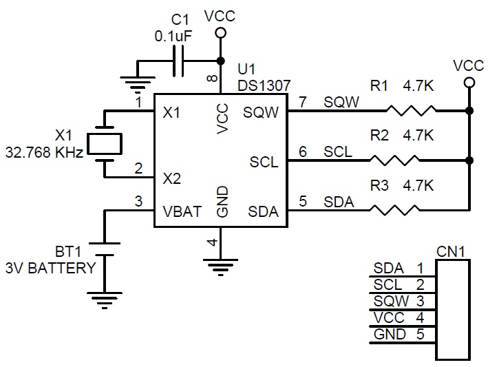 RTC( Real Time Clock) Module Using SMD Components and