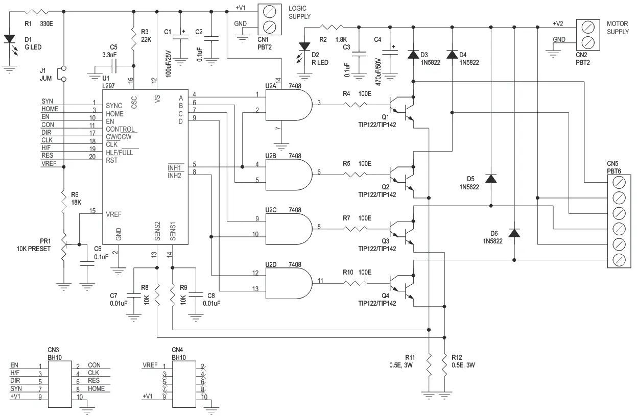 l298 h bridge circuit diagram international 454 tractor wiring l297 stepper motor driver schematic