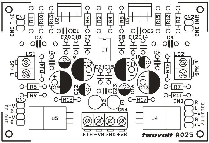 25w hi fi audio amplifier based lm1875