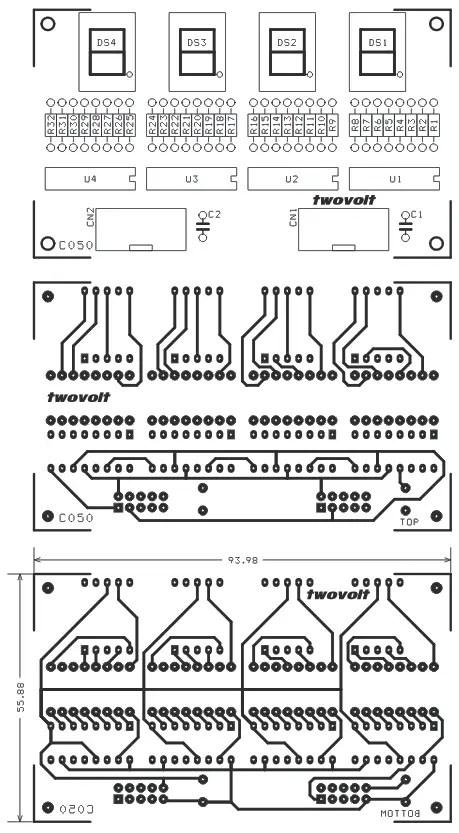 4 Digit 7-Segment Display using 74HC595 Serial Shift