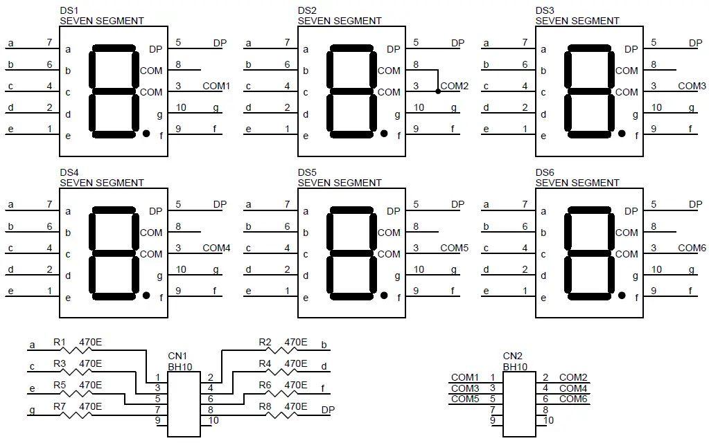 7 segment display circuits