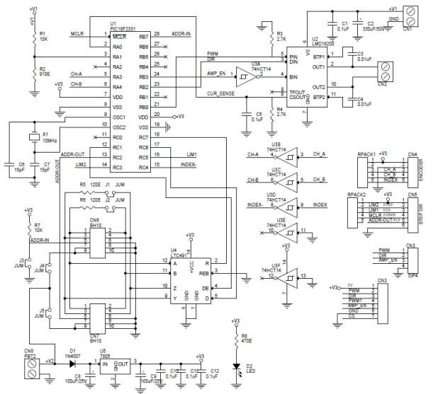 dc servo motor wiring diagram