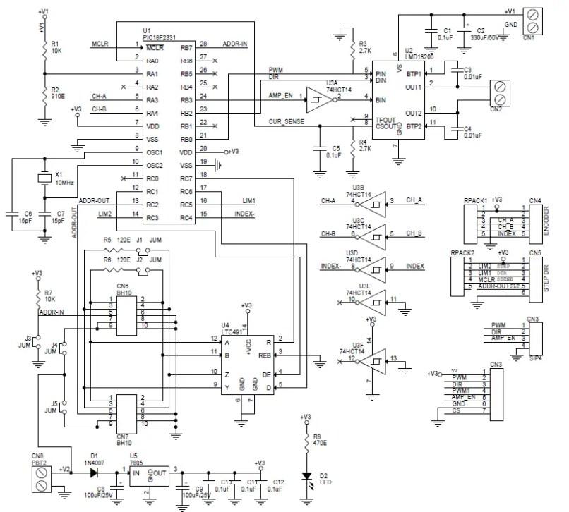 Dc Servo Motor Driver Circuit Diagram | motorcyclepict co