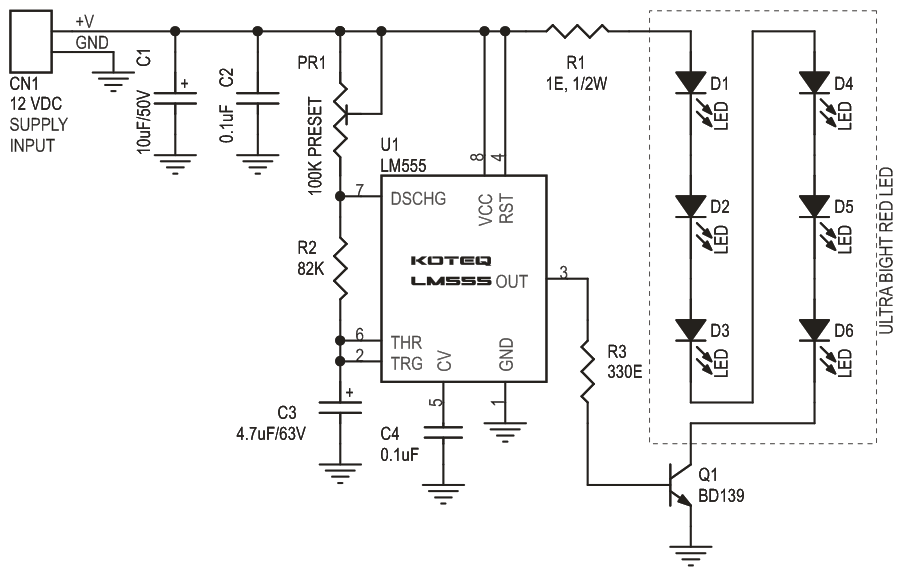 alphanet experiment 14 blinker circuit