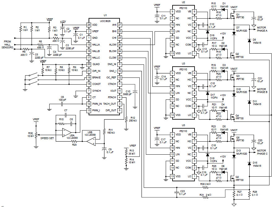 Brushless Speed Controller Schematic
