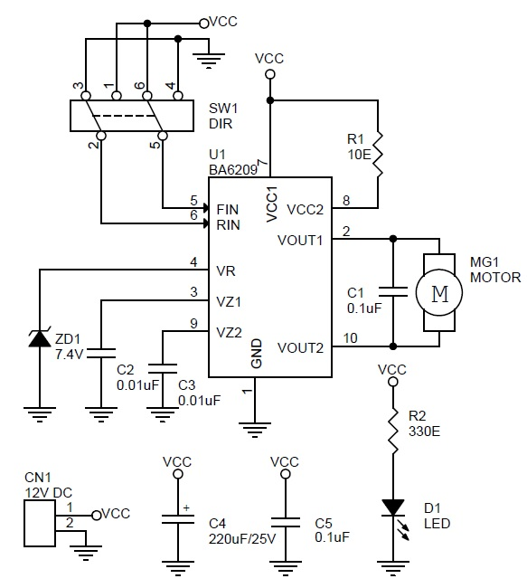 dc-motor-direction-controller-using-ba6209-schematic