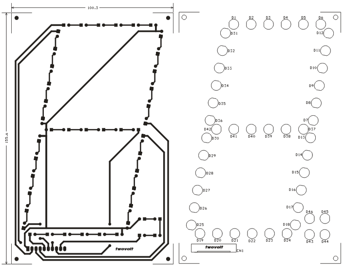 LED Based Large Size 7 Segment Various Display Schematic