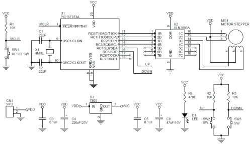 small resolution of unipolar stepper motor driver schematic using pic16f873 and