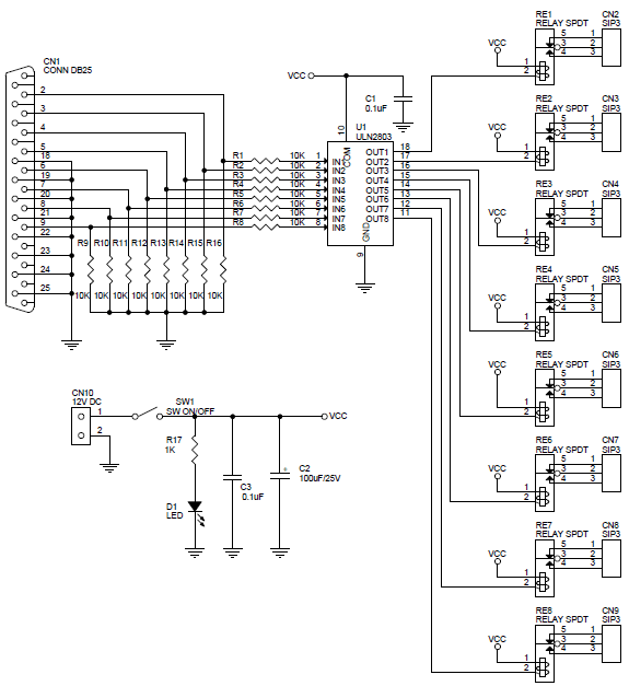 parallel led schematic circuit