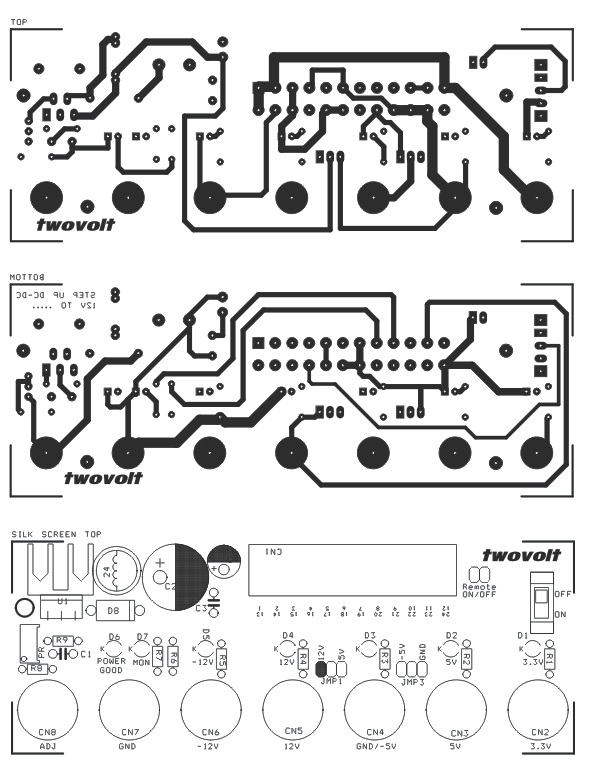 ATX PC Power Supply Breakout Board with Step Up DC-DC