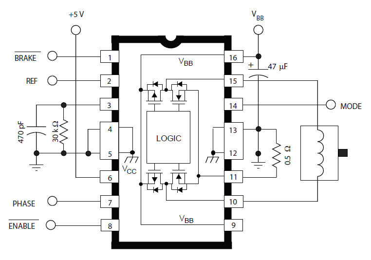 1.5A Full-Bridge PWM Motor Driver Using A4973 Circuit (4