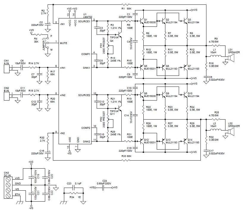 LM4702 AUDIO POWER AMPLIFIER DRIVER DOWNLOAD