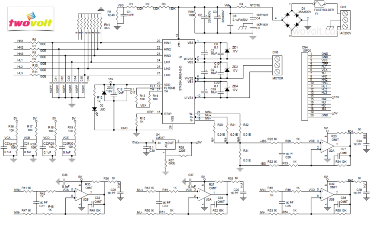 1600W_Brushless_Power_ Motor_Driver Schematic _IPM_Module
