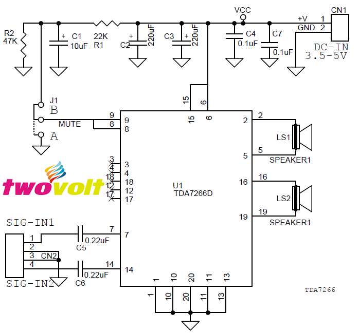 3W_Stereo_Audio_Amplifier_circuit_ using_TDA7266_SMD (3