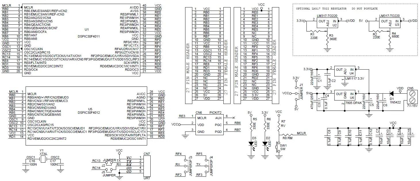 40Pin28Pin dS PIC Development-Evaluation Board (2