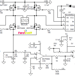pin 7 shutdown input if ir2104 used pin 8 gnd pin 9 current feed back output pin 10 fault over current output pin 11 5v dc output pin 12 voltage  [ 1409 x 697 Pixel ]