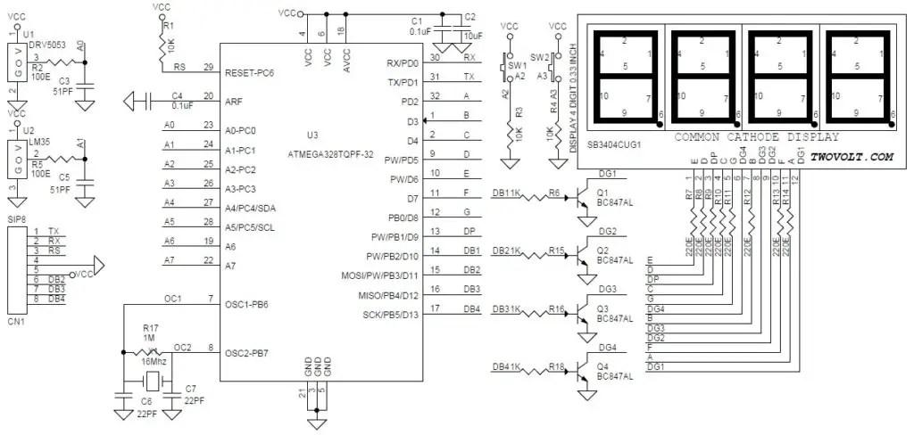 Arduino Compatible 4 Digit 7 Segment Display Counter (0000
