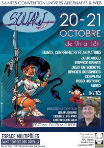 affiche SQUAW Saintes convention univers alternatif et web
