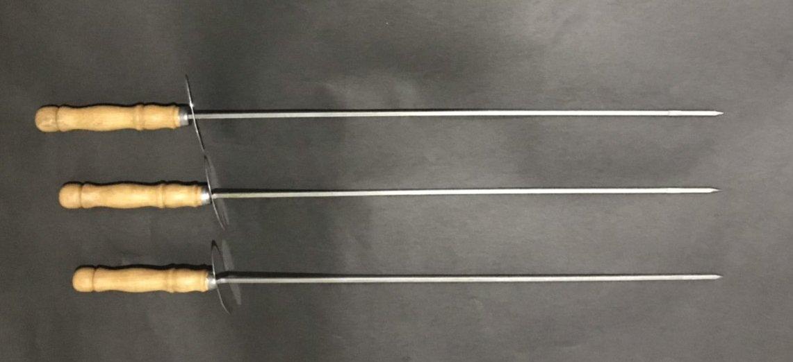 烤肉串 叉 食品級不鏽鋼防燙3支入臺灣製作(45cm) - TWT文創工作室