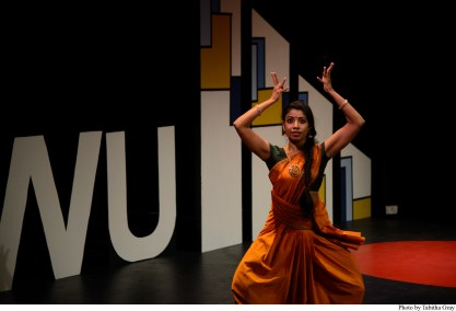 Prathiba Natesan performs an interpretive dance.