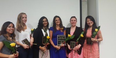 (from left to right) Annalisa Pablo, Colby Hutchinson, Salma Hooshmand, Rachel Campbell, Katherine Hahn, and Helen Wan.